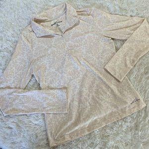 Women's cream and white Eddie Bauer Athletic Shirt